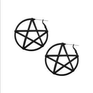 Ask and Embla Large Pentacle Earrings